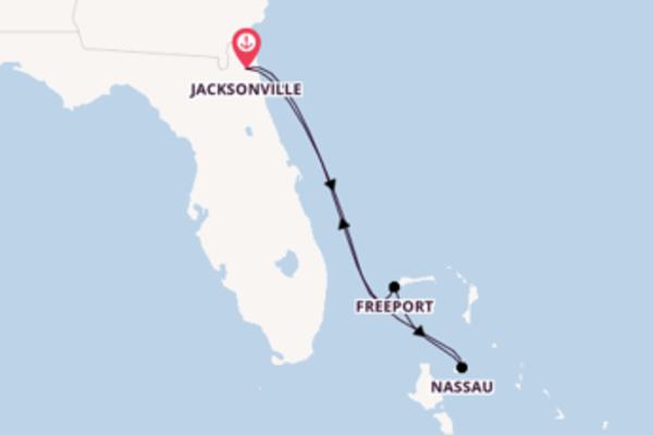 5-daagse cruise met de Carnival Ecstasy vanuit Jacksonville