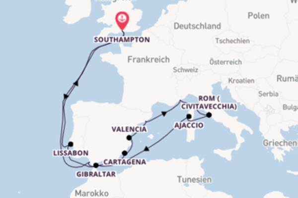 20 Tage Mittelmeer Reise