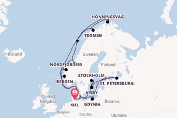 22 day expedition on board the MSC Splendida from Kiel
