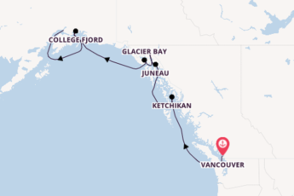 8 day voyage from Vancouver