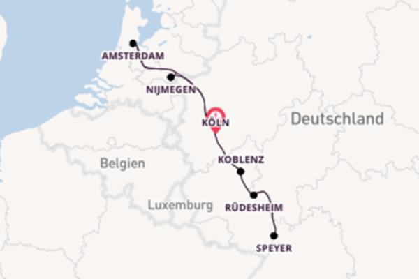 Großartige Reise ab Köln, Deutschland