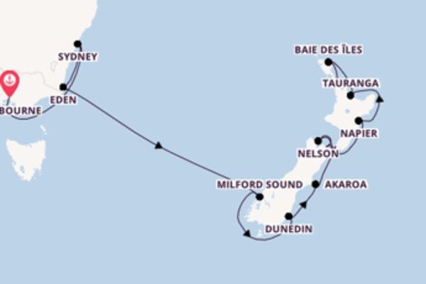 18 jours pour découvrir Picton à bord du beateau Azamara Quest