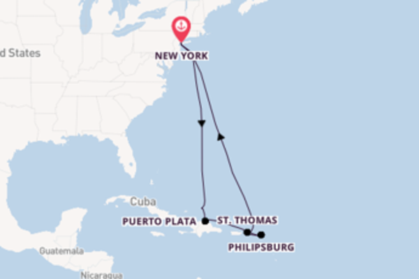 Voyage from New York with the Norwegian Gem