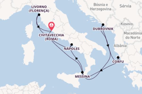 Agradável cruzeiro até Civitavecchia (Roma)