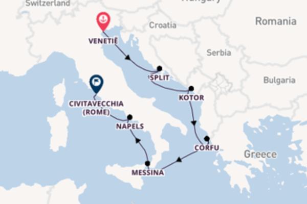9-daagse droomcruise vanuit Venetië