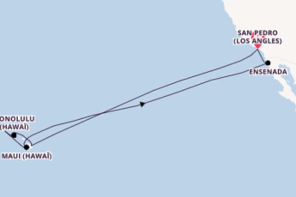 16 jours de navigation à bord du bateau Star Princess depuis San Pedro (Los Angles)