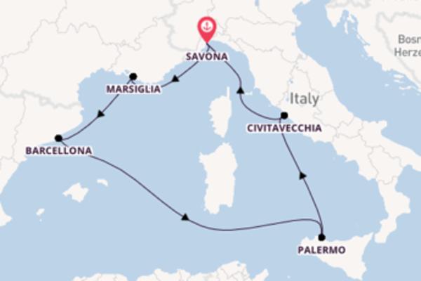 Scopri Palermo partendo da Savona