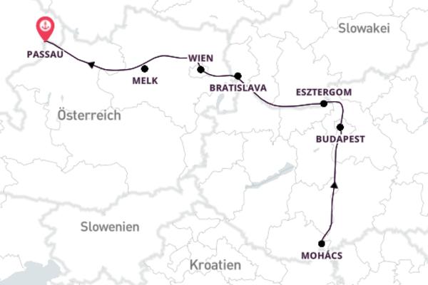 Historisch und modern - Weihnachten auf der Donau
