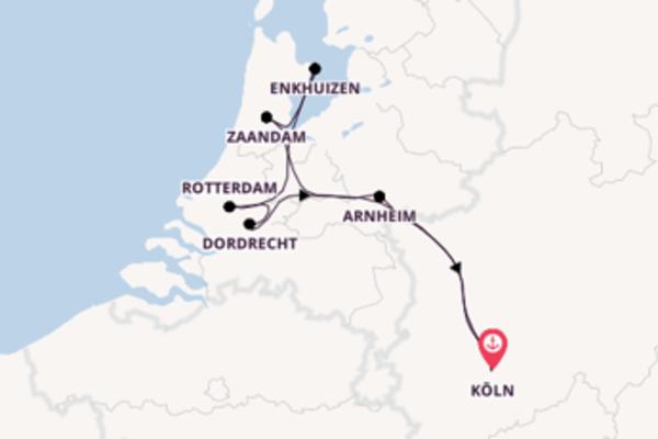 Rheinkreuzfahrt zur Tulpenblüte Holland