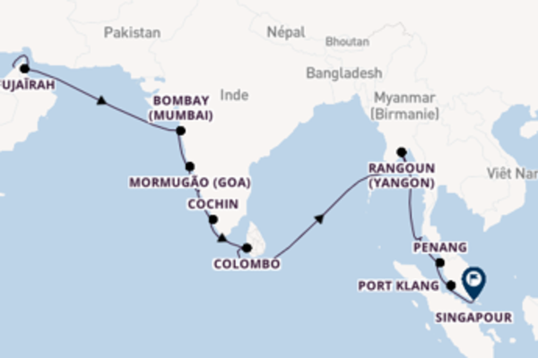 Ressentez avec Regent Seven Seas Cruises, la destination: Bombay