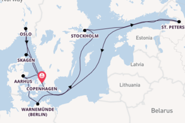 12 day cruise with the Regal Princess to Copenhagen