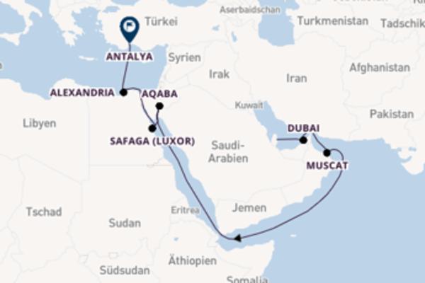 Erkunden Sie Dubai auf der Mein Schiff 6