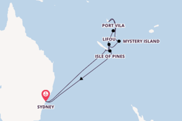 14 day sail from Sydney