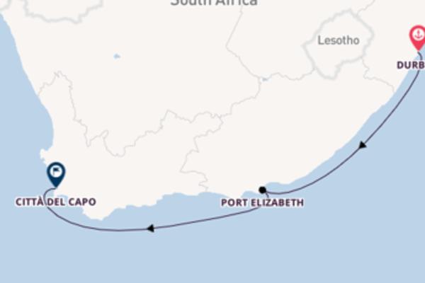 Destinazione Città del Capo da Durban