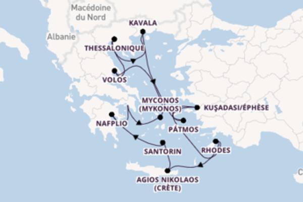 Divine croisière vers Athènes (Le Pirée) via Thessalonique