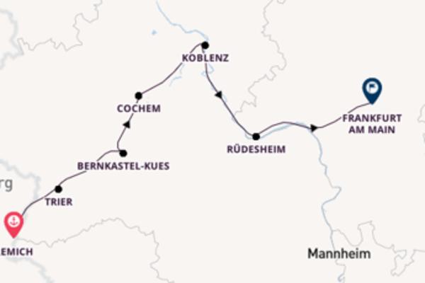 Unterwegs auf drei Flüssen ab Luxemburg