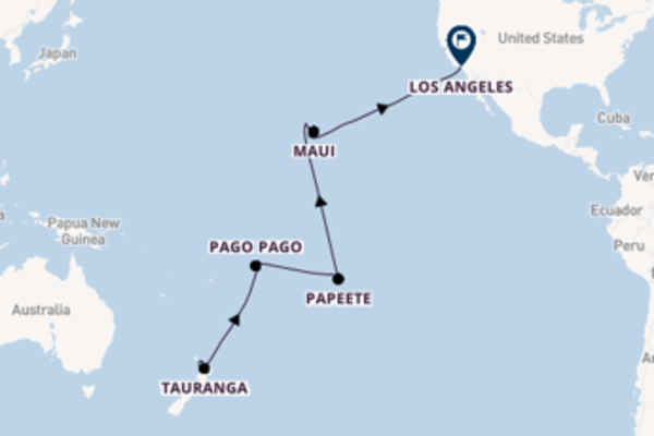 Voyage with Princess Cruises from Auckland to Los Angeles