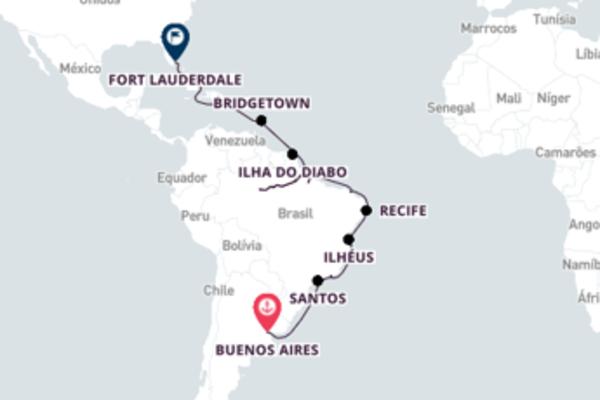 A bordo do Volendam em um cruzeiro de 34 dias