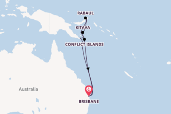 Voyage from Brisbane with the Pacific Explorer