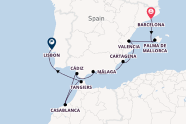 11 day expedition to Lisbon from Barcelona