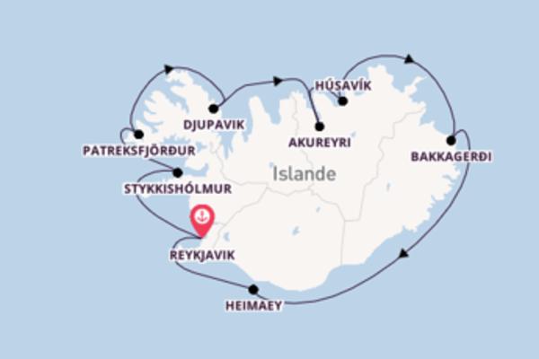 11 jours de navigation à bord du bateau Fram depuis Reykjavik