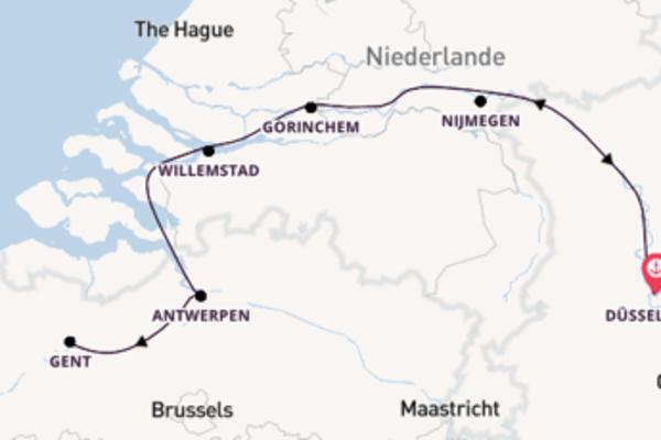 Wunderschöne Kreuzfahrt über Antwerpen ab Düsseldorf