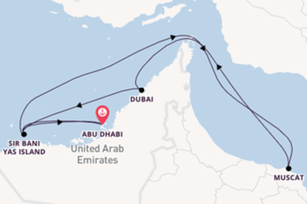Expedition with MSC Cruises from Abu Dhabi
