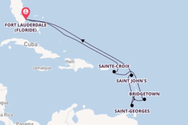 Kingstown depuis Fort Lauderdale pour une croisière de 13 jours