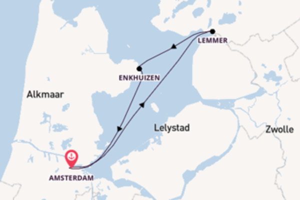 6 day cruise with the MS Symphonie to Amsterdam