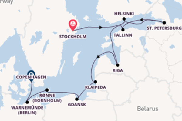 Voyage with Oceania Cruises from Stockholm
