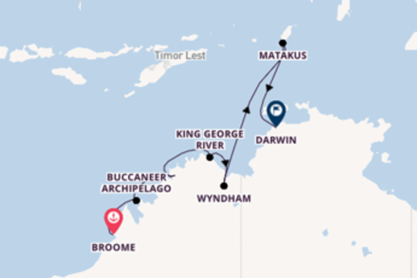 Cruising from Broome via Buccaneer Archipelago