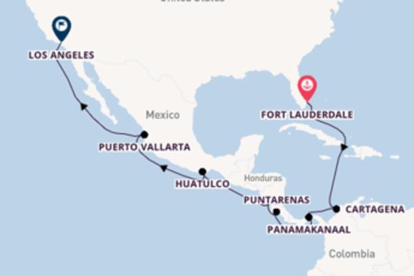 15-daagse cruise met de Island Princess vanuit Fort Lauderdale