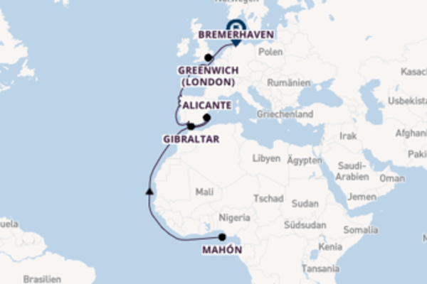 14 Tage Westeuropa Kreuzfahrt
