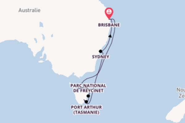 Freycinet et une idyllique croisière depuis Brisbane