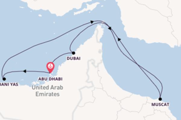 Geniet van een 7-daagse cruise naar Abu Dhabi