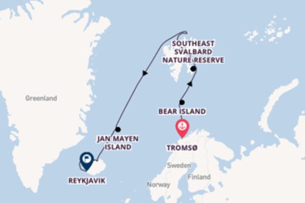 Picturesque Tromsø to picturesque Reykjavik