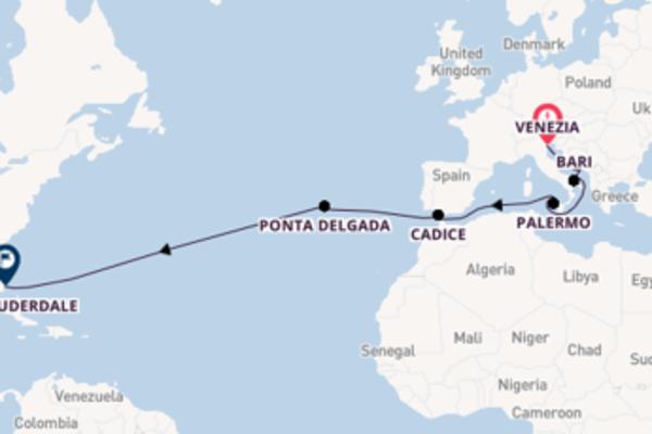Prendere il largo verso Fort Lauderdale da Venezia