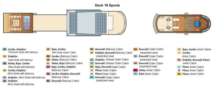 Coral Princess Deck 16 Sports