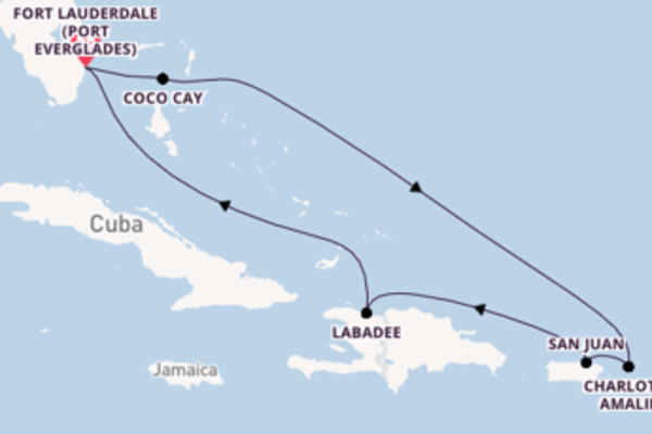 8 day expedition from Fort Lauderdale (Port Everglades)