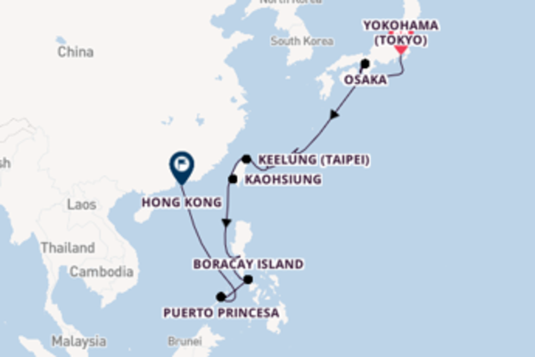 15 day cruise with the ms Noordam to Hong Kong