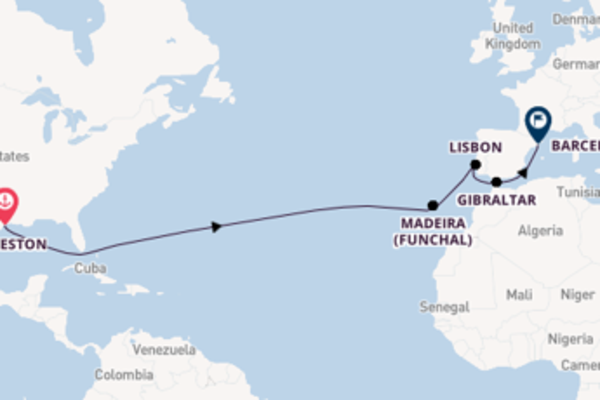 Journey with Royal Caribbean from Galveston to Barcelona