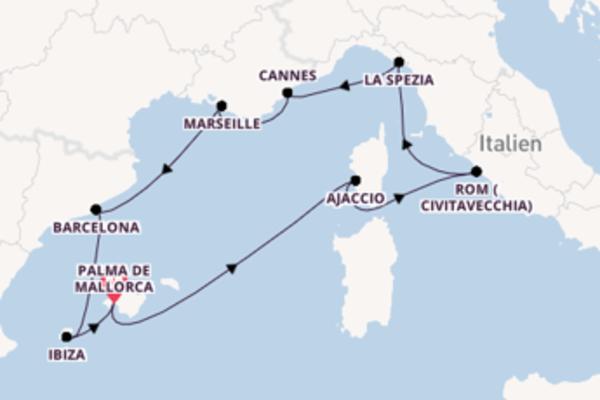 11-tägige Kreuzfahrt ab Palma de Mallorca