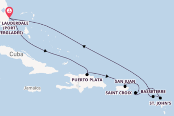 Cruising from Fort Lauderdale (Port Everglades) via Puerto Plata