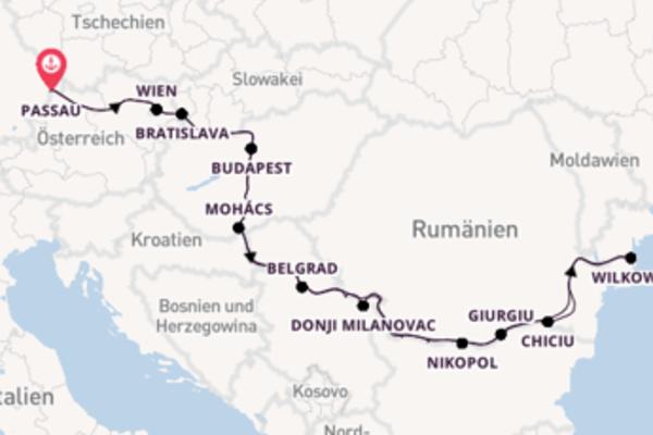 16 Tage Donau Kreuzfahrt