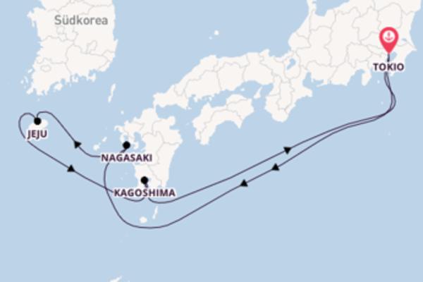 7-tägige Kreuzfahrt ab Tokio