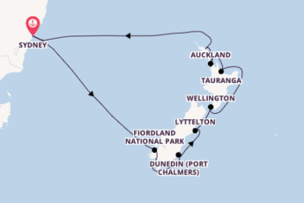 14 day voyage on board the Royal Princess from Sydney