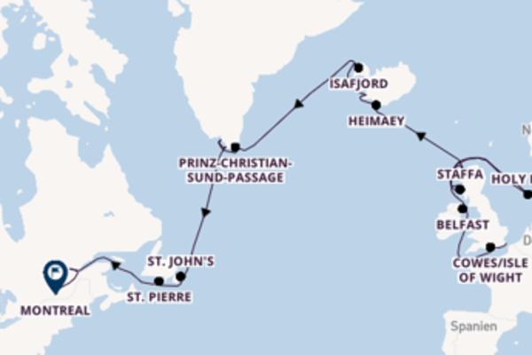 Von London/Dover über Belfast in 25 Tagen