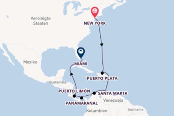 Außergewöhnliche Kreuzfahrt von New York nach Miami