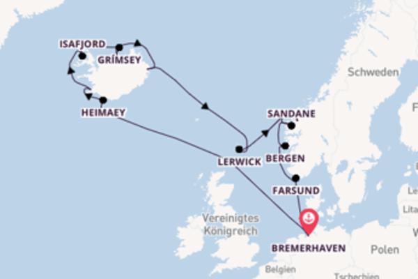 In 17 Tagen nach Bremerhaven über Geiranger