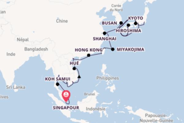 Miyakojima, depuis Singapour à bord du bateau Nautica